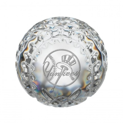 New York Yankees MLB Baseball Paperweight- By Waterford