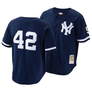 Mitchell & Ness Big Boys Mariano Rivera New York Yankees Mesh V-Neck Player Jersey