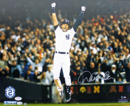 Yankees Derek Jeter Signed 16X20 Photo Auto Graded Gem 10! Steiner & PSA