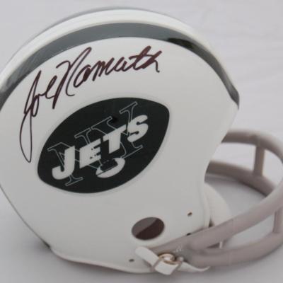 Joe Namath Autographed Mini Helmet