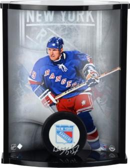 Wayne Gretzky New York Rangers Autographed Logo Puck