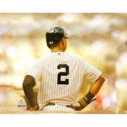 New York Yankees Tribute Derek Jeter No.2 30 x 38 in. Canvas – Signed by Girardi Martinez M