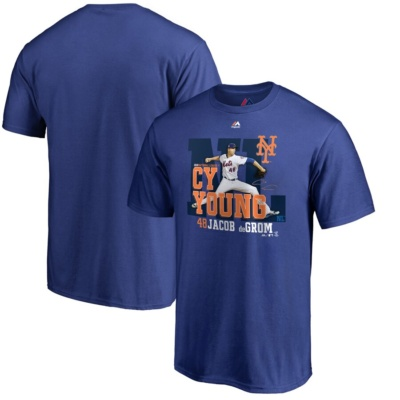 New York Mets Jacob deGrom 2018 NL Cy Young Award T-Shirt