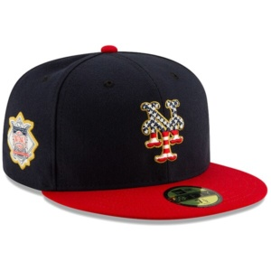 New York Mets New Era 2019 Stars & Stripes 4th of July On-Field 59FIFTY Fitted Hat –