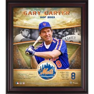 "Gary Carter New York Mets Framed 15"" x 17"" Hall of Fame Career Profile"