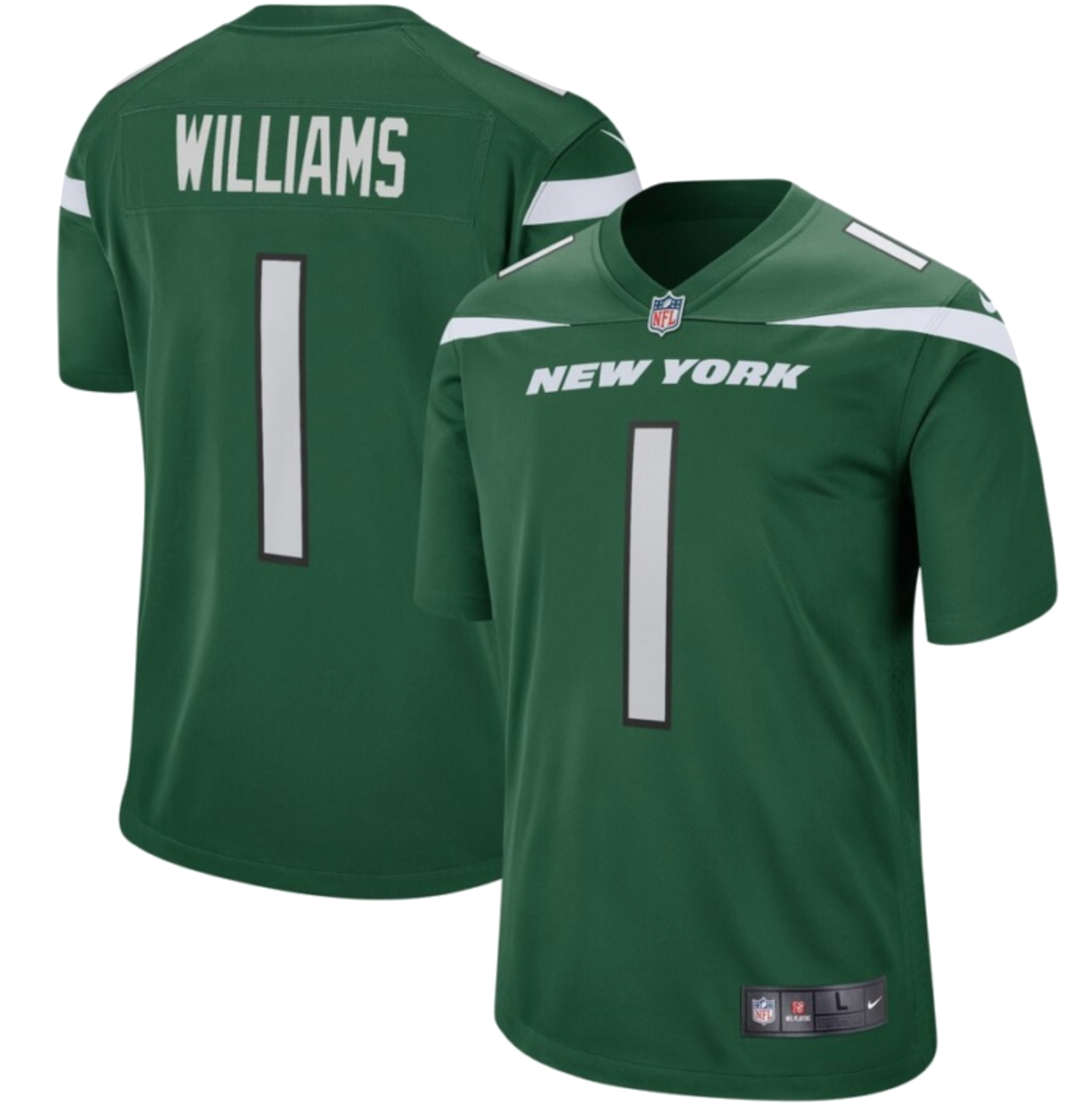 Quinnen Williams New York Jets Nike 2019 NFL Draft First Round Pick Game Jersey