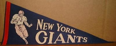 1940'S NEW YORK GIANTS FELT PENNANT 29″ FELT PENNANT – # 12 RUNNINGBACK