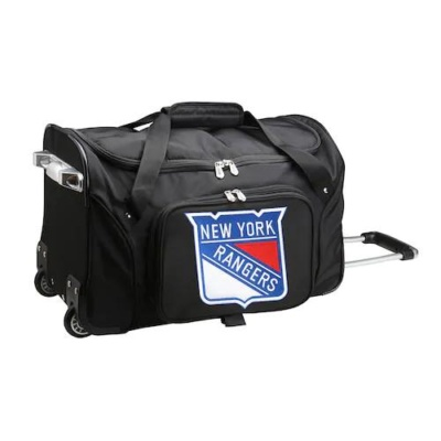New York Rangers 22-Inch Wheeled Duffel Bag
