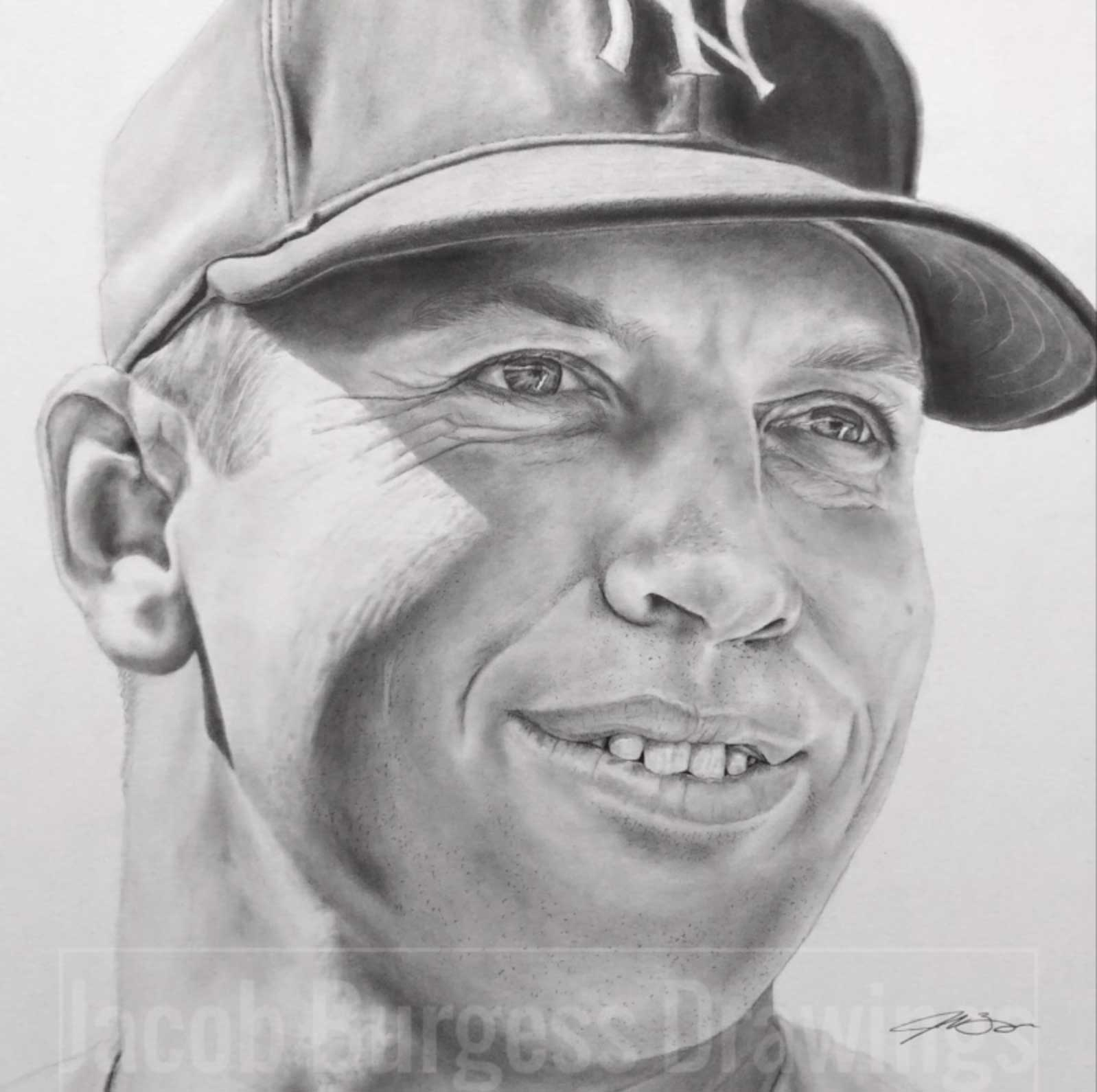 Don Mattingly 11″x14″ Pencil Drawing Print New York Yankees Numbered to 300