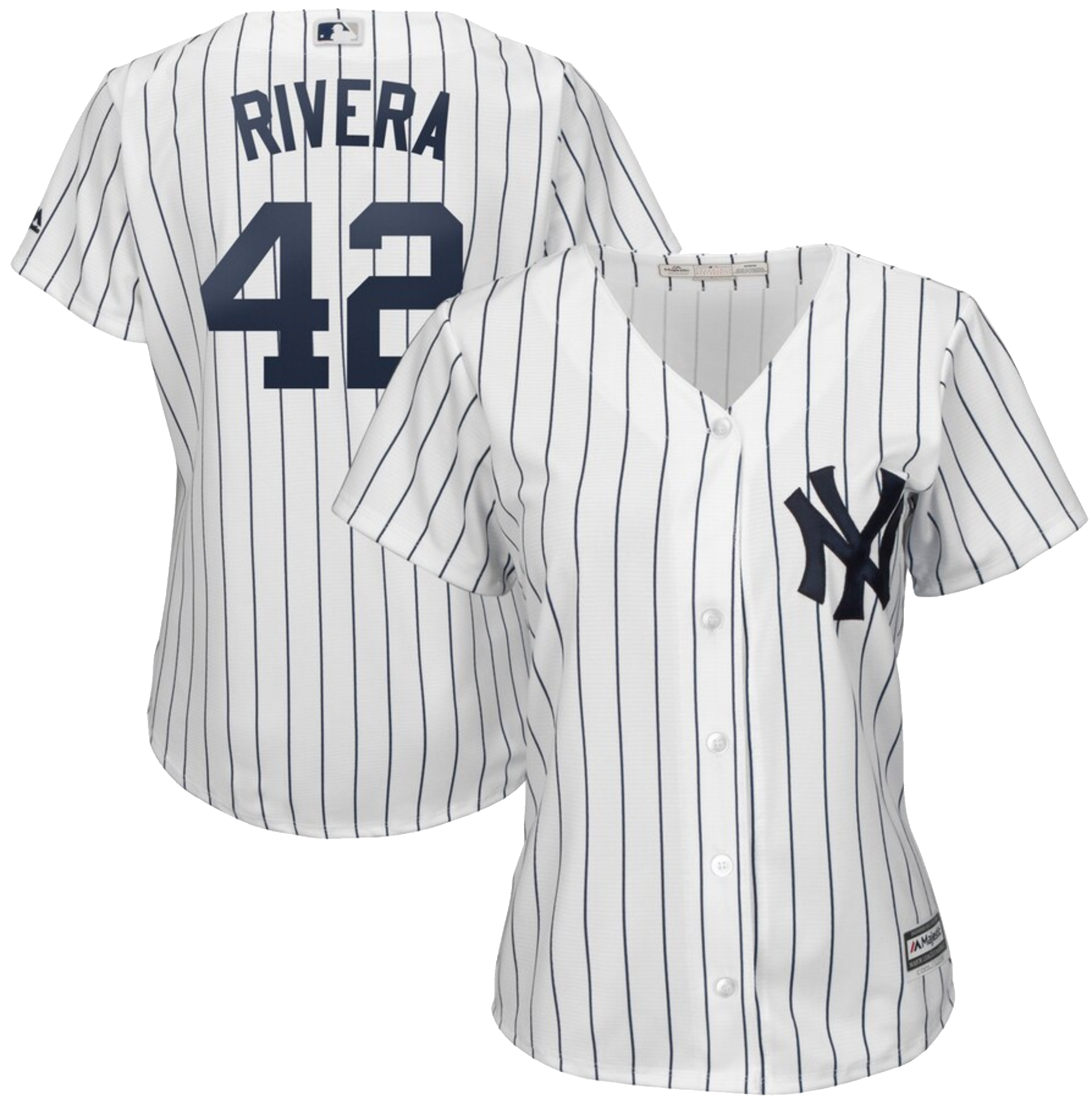 New York Yankees Mariano Rivera Majestic Women's 2019 Hall of Fame Cool Base Player Jersey