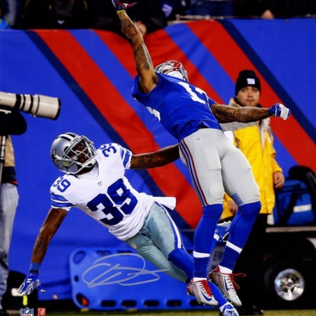 Odell Beckham Jr. New York Giants Signed One-Handed Catch photo