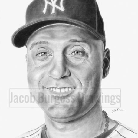 "Derek Jeter 11""x14"" Print from Original Drawing New York Yankees"