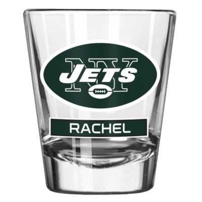 New York Jets 2oz. Personalized Shot Glass
