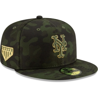 Mets New Era MLB Armed Forces Fitted Hat - Camo