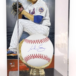 Noah Syndergaard New York Mets Autographed Baseball and Gold Glove