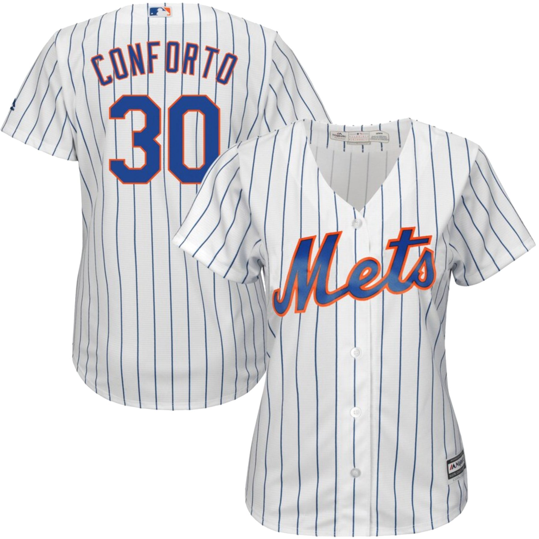 Michael Conforto New York Mets Majestic Women's Home Cool Base Player Jersey – White
