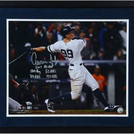 Aaron Judge New York Yankees Framed Autographed 16″ X 20″