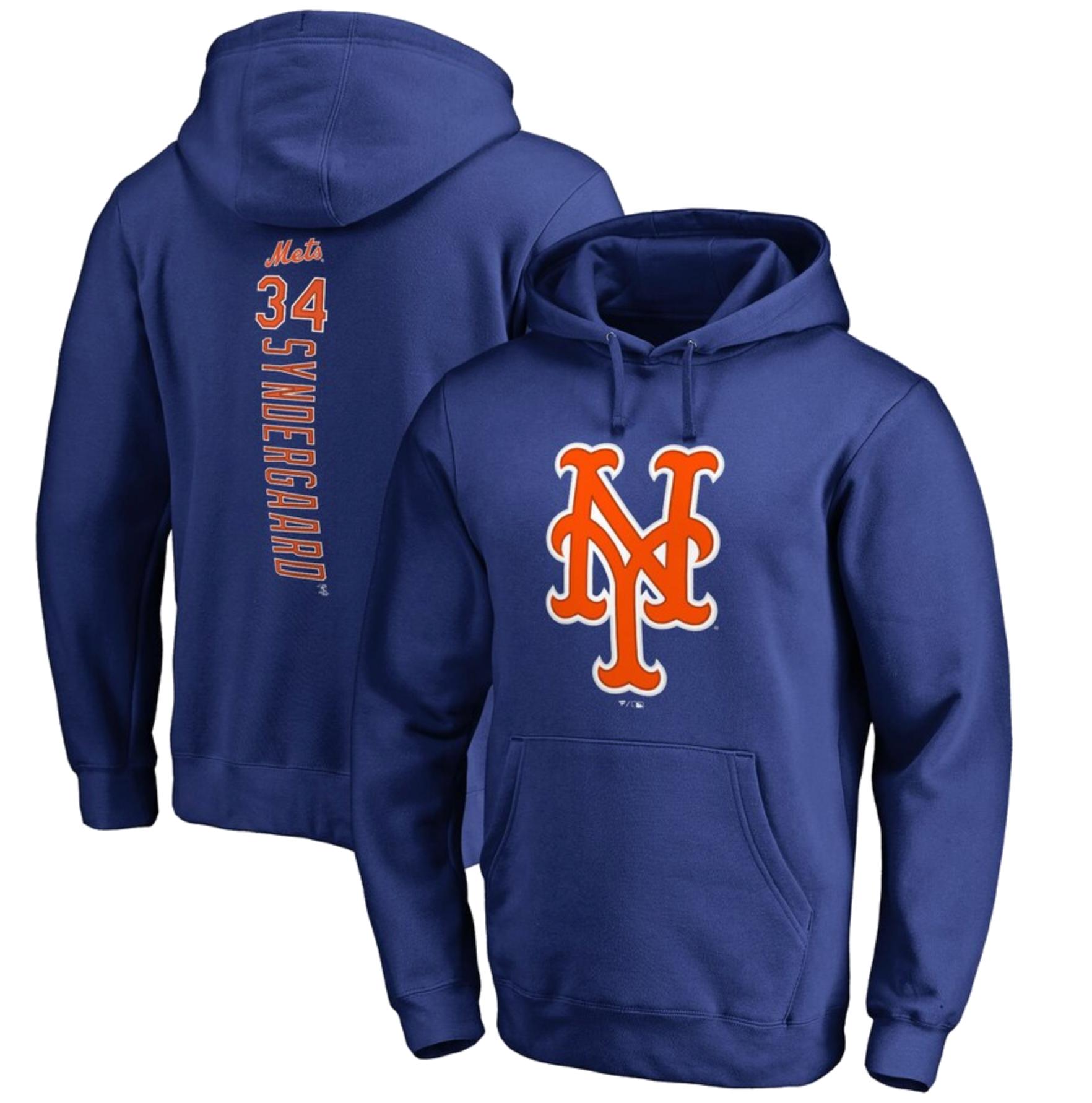 Noah Syndergaard New York Mets Fanatics Branded Backer Pullover Hoodie