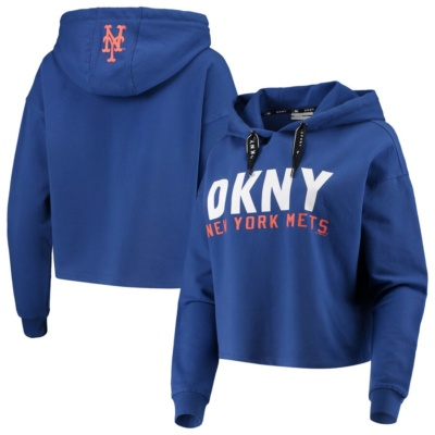 New York Mets DKNY Sport Women's Pullover Hoodie -