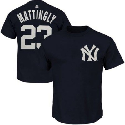 Don Mattingly New York Yankees Majestic Cooperstown Player Name & Number T-Shirt - Majestic