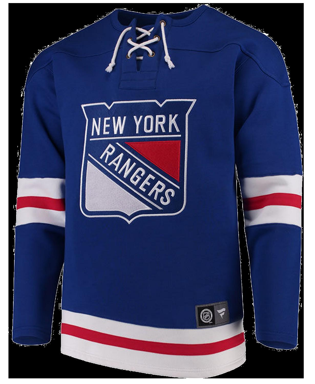 Men's New York Rangers Breakaway Lace Up Crew Sweatshirt