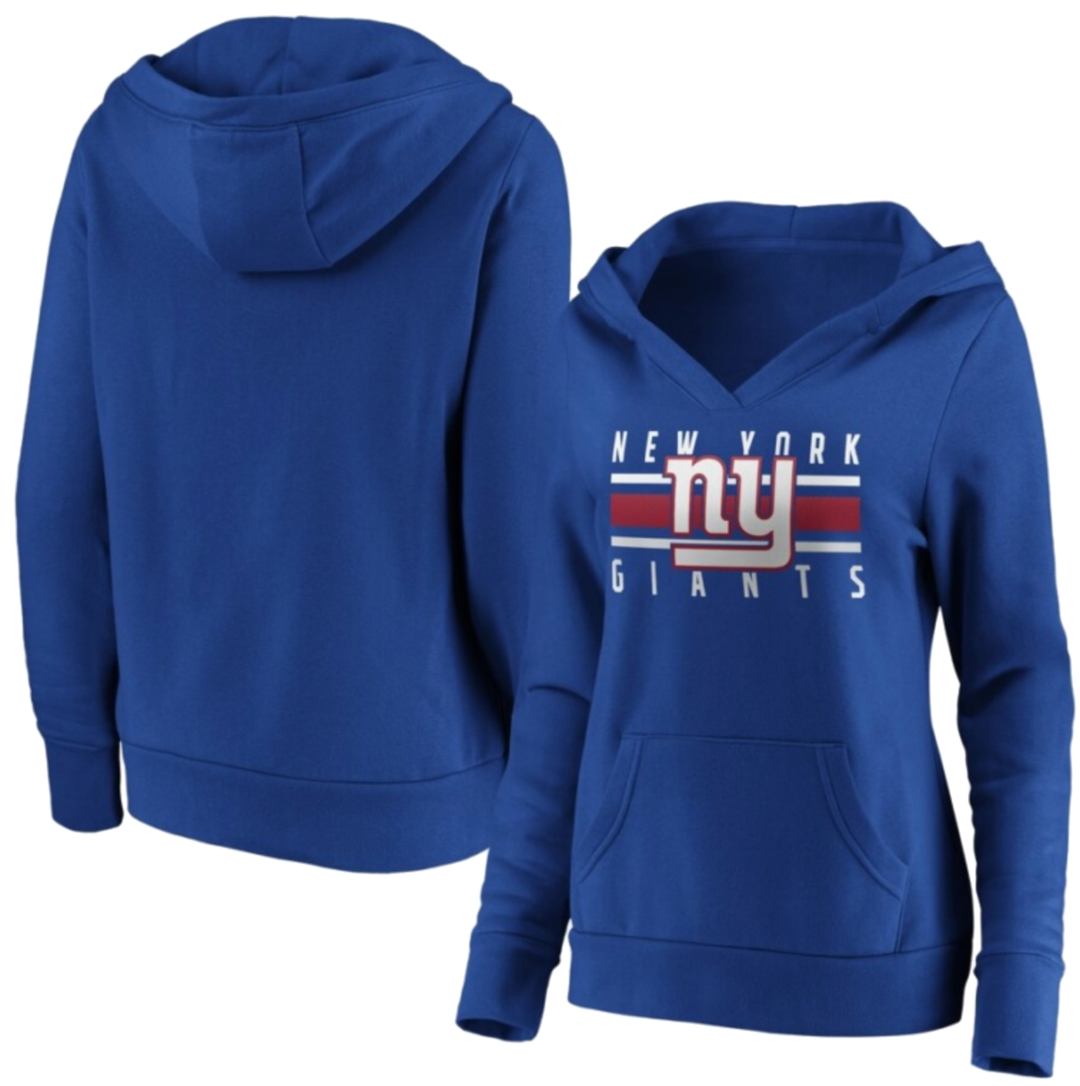 New York Giants Women's Stacked Stripes Pullover Hoodie – Royal