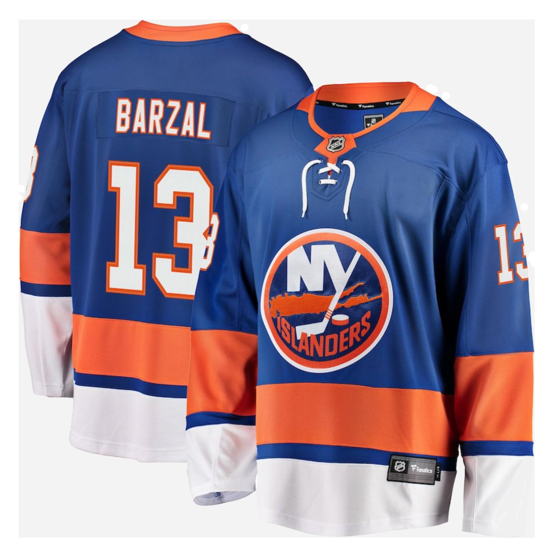 New York Islanders Fanatics Branded Breakaway Player Jersey-Mathew Barzal