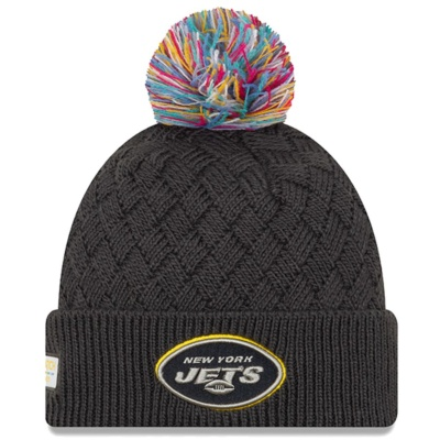 Women's New York Jets Crucial Catch Cuffed Pom Knit Hat