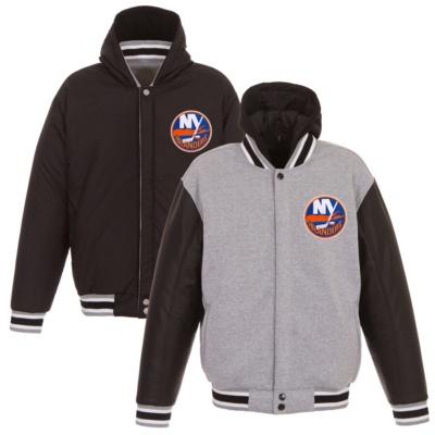 New York Reversible Fleece Full-Snap Jacket -