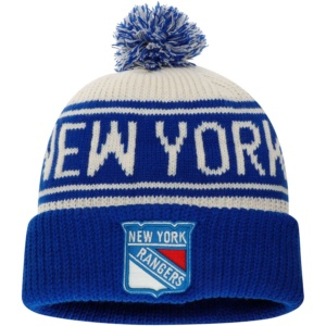 New York Rangers Knit Hat with Pom