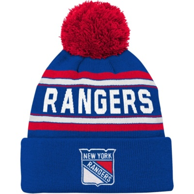 Youth New York Rangers Pom Knit Hat