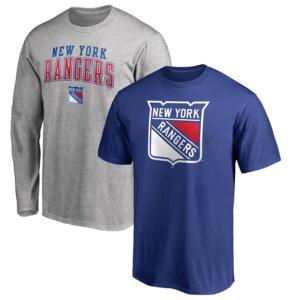 Men's New York RangersBlue/ T-Shirt Combo Set