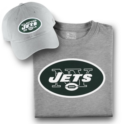 Men's New York Jets T-Shirt and Hat Bundle