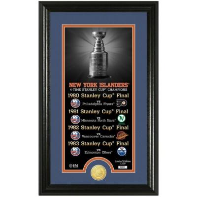 New York Islanders Legacy Supreme Bronze Coin Panoramic Photo Mint