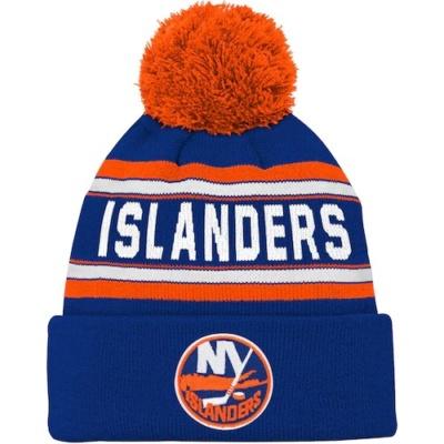 Youth New York Islanders Cuffed Pom Hat