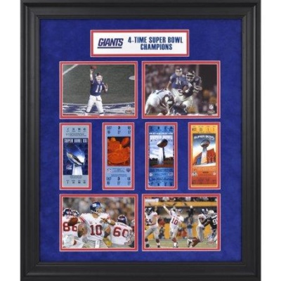 New York Giants Super Bowl Ticket Collage