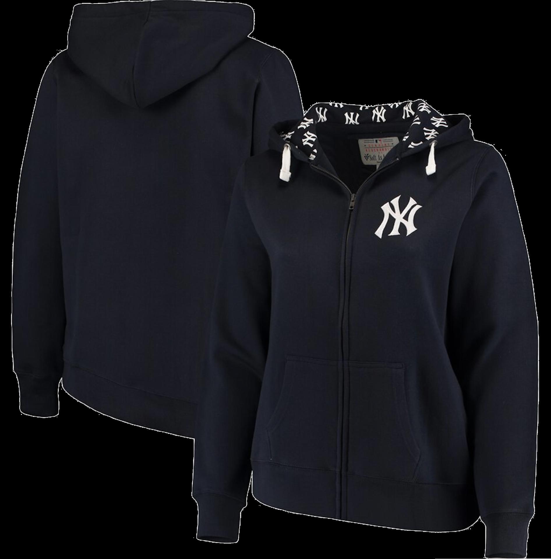 Soft as a Grape New York Yankees Women's Plus Size Pennant Race Full-Zip Hoodie