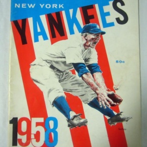 New York Yankees 1958 Program Yearbook