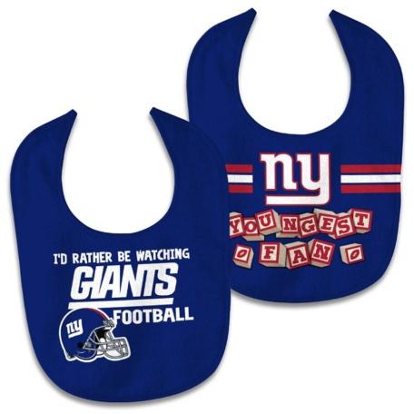 New York Giants Newborn Bib