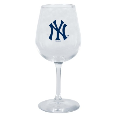 New York Yankees Stemmed Wine Glass