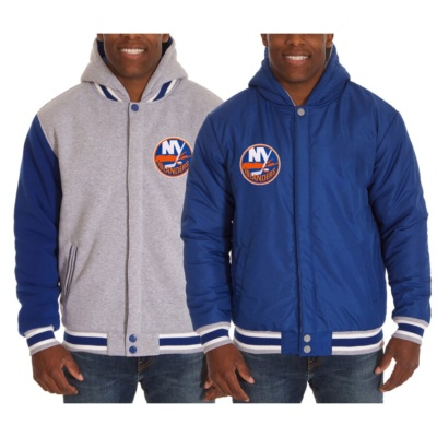 New York Islanders JH Design Two-Tone Reversible Fleece Hooded Jacket –