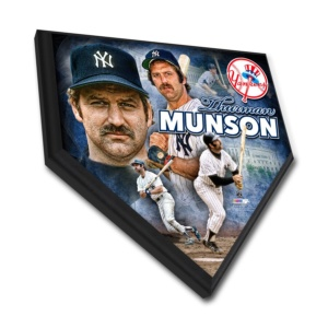 Thurman Munson New York Yankees Home Plate Plaque