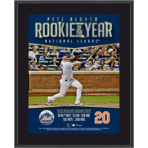 Pete Alonso New York Mets 2019 NL Rookie of the Year Plaque