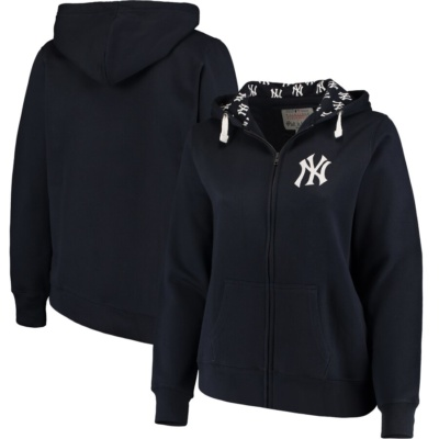New York Yankees Women's Plus Size Full-Zip Hoodie