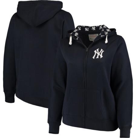 New York Yankees Women's Plus Size Full-Zip Hoodie