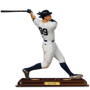 An incredibly lifelike portrait sculpture of the Yankees electrifying slugger!