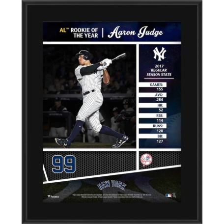 Aaron Judge New York Yankees 2017 AL Rookie of the Year Plaque