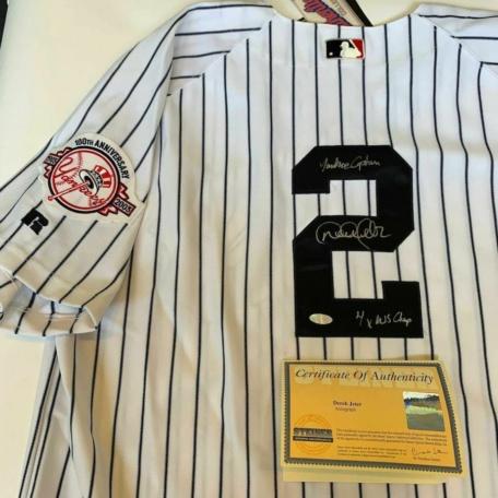 "Derek Jeter ""Yankees Captain"" Yankees Jersey Steiner COA Rare"