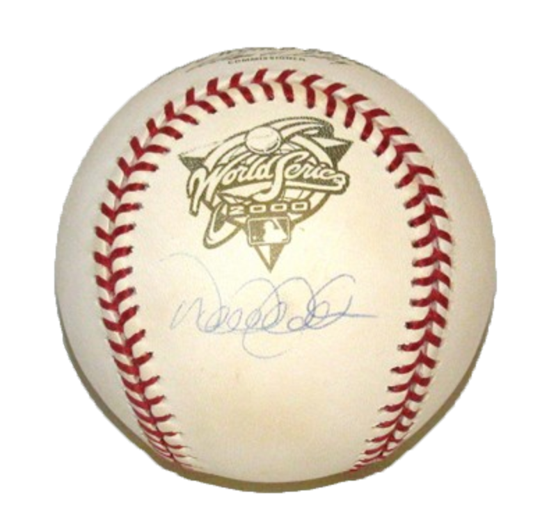 DEREK JETER-NEW YORK YANKEES -2000	RAWLINGS OFFICIAL WORLD SERIES OFFICIAL BASEBALL AUTOGRAPHED
