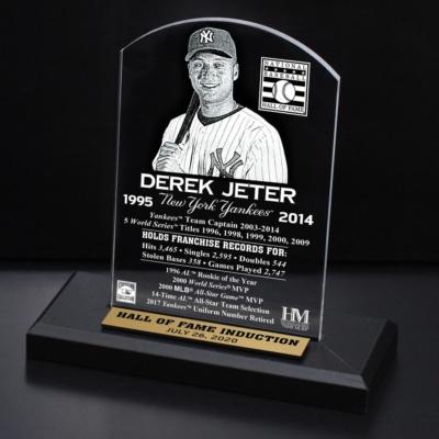 Derek Jeter New York Yankees 2020 Hall of Fame Induction Etched Plaque